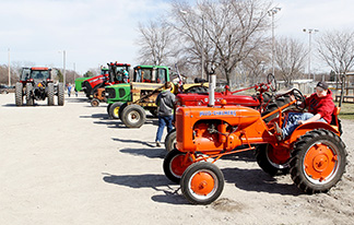 Drive tractor to school day